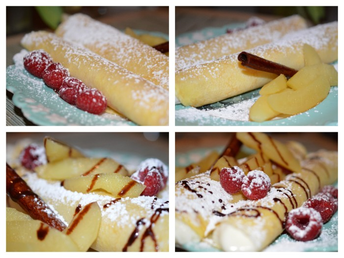 Crepes with Rasberries