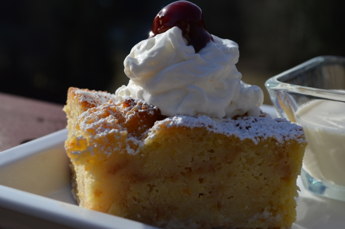 Breadpudding with cherry