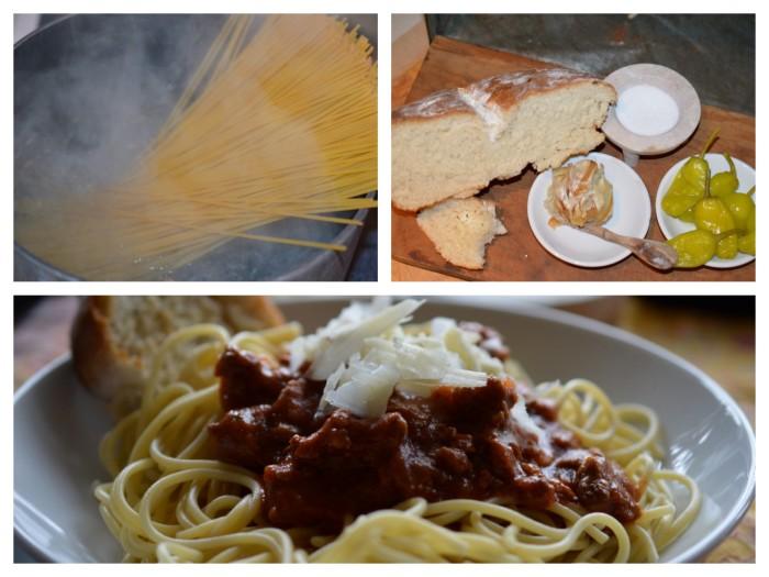 Spaghetti Bolognese collage
