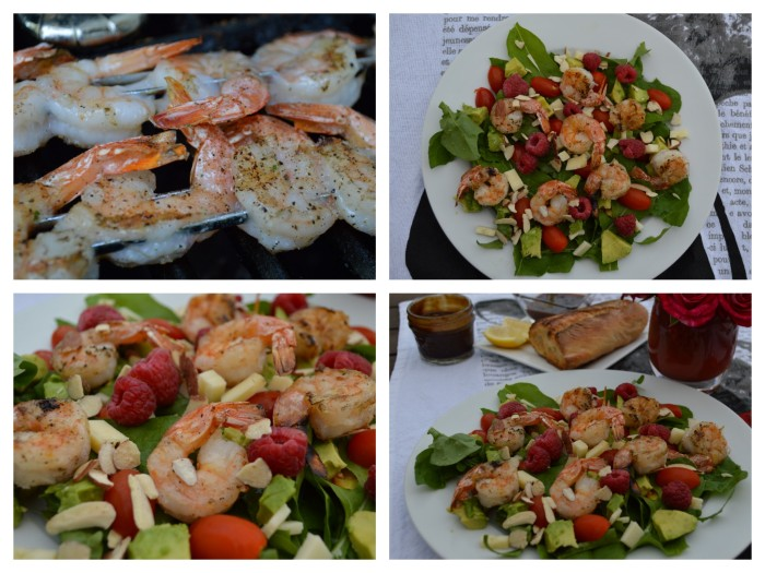 Arugula Shrimp Salad collage