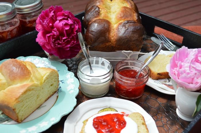 Brioche and Strawberry Jam