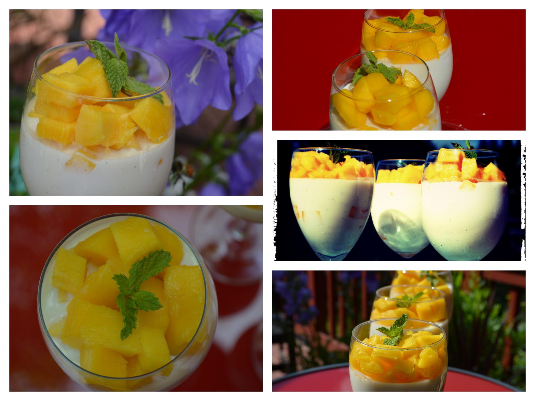 Mango Vanilla Bean Panna Cotta | A German in Seattle