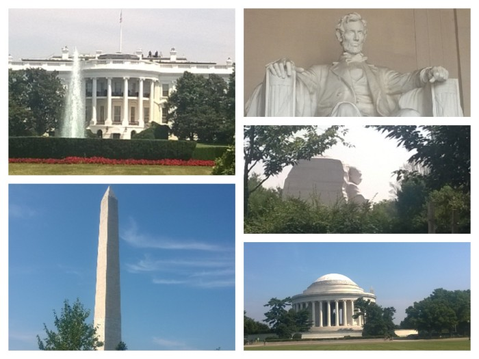 DC collage monuments