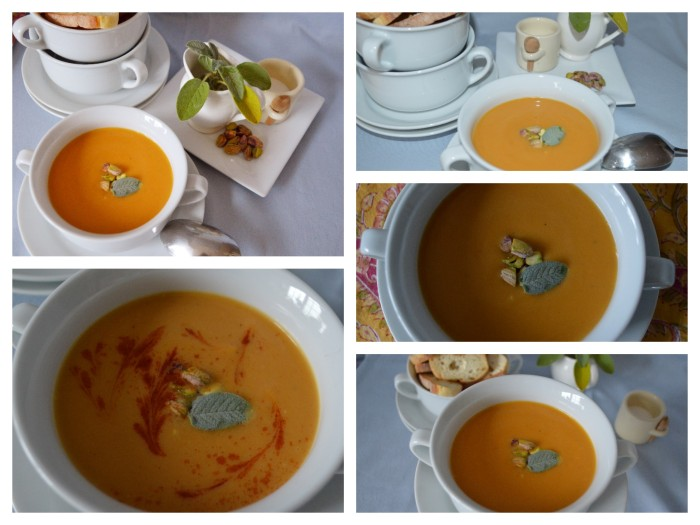 Butternut Squash soup collage