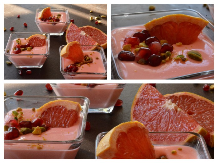 Pomegranate Grapefruit Possets