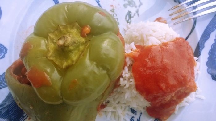 meat filled bell peppers
