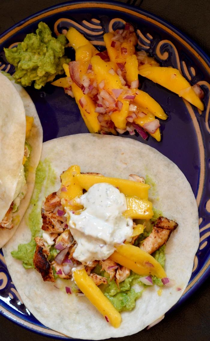 Adobo chicken tacos