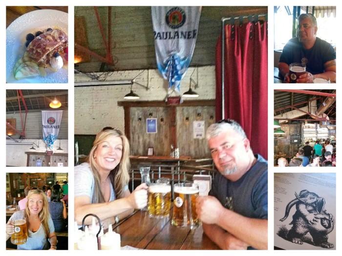 bohemian beergarden collage