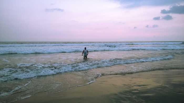 Mike in ocean