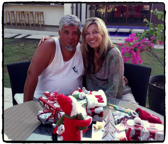 xmas morning mike and dunja